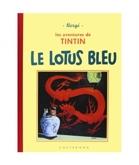 CASTERMAN-FACS.BLANCO Y NEGRO 5-LE LOTUS BLEU - album-de-tintin-le-lotus-bleu-edicion-fac-simile-negro-blanco-n5
