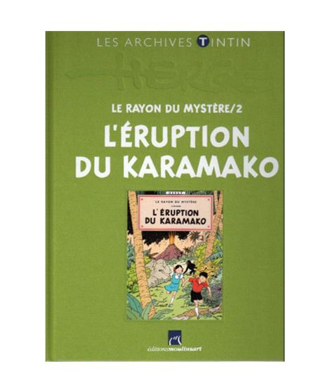 LIVRE ARCHIVE ATLAS - L´ERUPTION DU KARAMAKO - ref-2544002-album-les-archives-de-tintin-l-eruption-du-karamako-fr