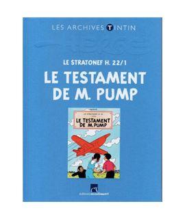 LIVRE ARCHIVE ATLAS - LE TESTAMENT DE M. PUMP - FRANCÉS - ref-2544003-album-les-archives-de-tintin-le-testament-de-m-pump-fr