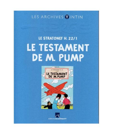 LIVRE ARCHIVE ATLAS - LE TESTAMENT DE M. PUMP - ref-2544003-album-les-archives-de-tintin-le-testament-de-m-pump-fr