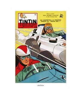 AFFICHE J. GRATON & LE JOURNAL TINTIN 1958 NUMERADO - affiche-tt-1953-25