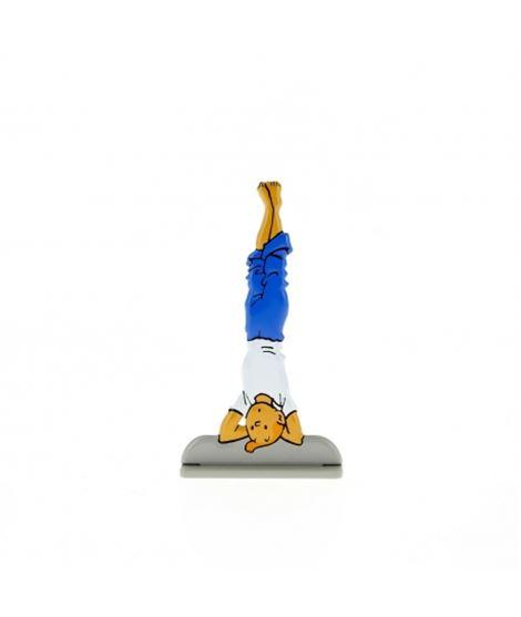 FIGURA METALICA EN RELIEVE-TINTIN Y LOS PICAROS - figura-metalica-de-coleccion-tintin-hace-yoga-29220-2011