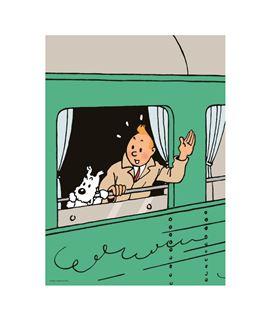 DOSSIER A4 - TINTÍN Y MILÚ TREN CONGO - 15137-portafolios-carpeta-dossier-a4-tintin-y-milu-tren-congo-saludan