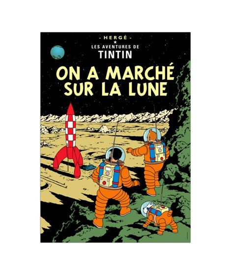 POSTAL DE PORTADA FRANCÉS - ON A MARCHE - 16._on_a_march_sur_la_lune