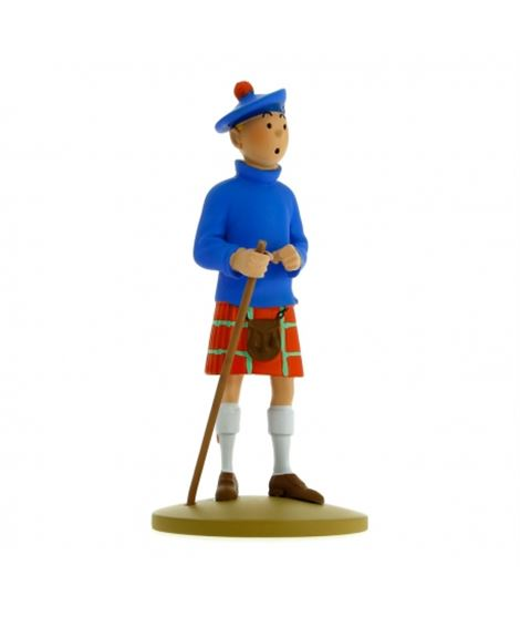 FIGURA TF1 RESINA - TINTIN ESCOCES - figurine-de-collection-tintin-en-kilt-13cm-moulinsart-42192-2015
