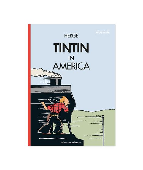 TINTIN IN AMERICA - LOCOMOTORA (color) - 703104-tintin-america-1932-facsimil-coloreado-coloring-ENG-1