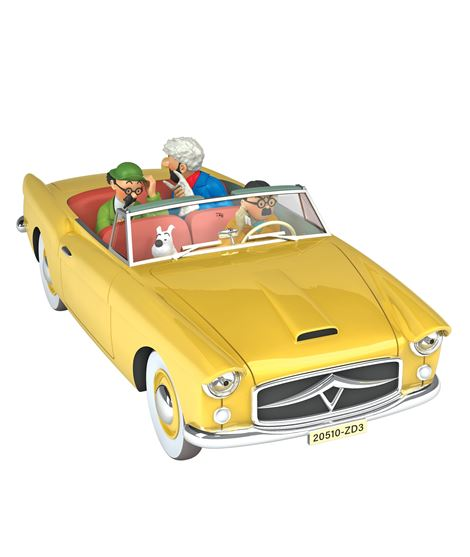 COCHE - EL DESCAPOTABLE BORDURIA - ESCALA 1/24 - 29924-tintin-coche-car-voiture-cotxe-escala-1-24-afer-asunto-affaire-tornasol-c