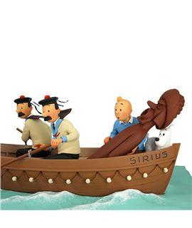 RESINA - EL BOTE DEL SIRIUS - 44022-sirius-jolly-boat-resina-madera-metal-coleccionismo-500-ejemplares-tintin-4